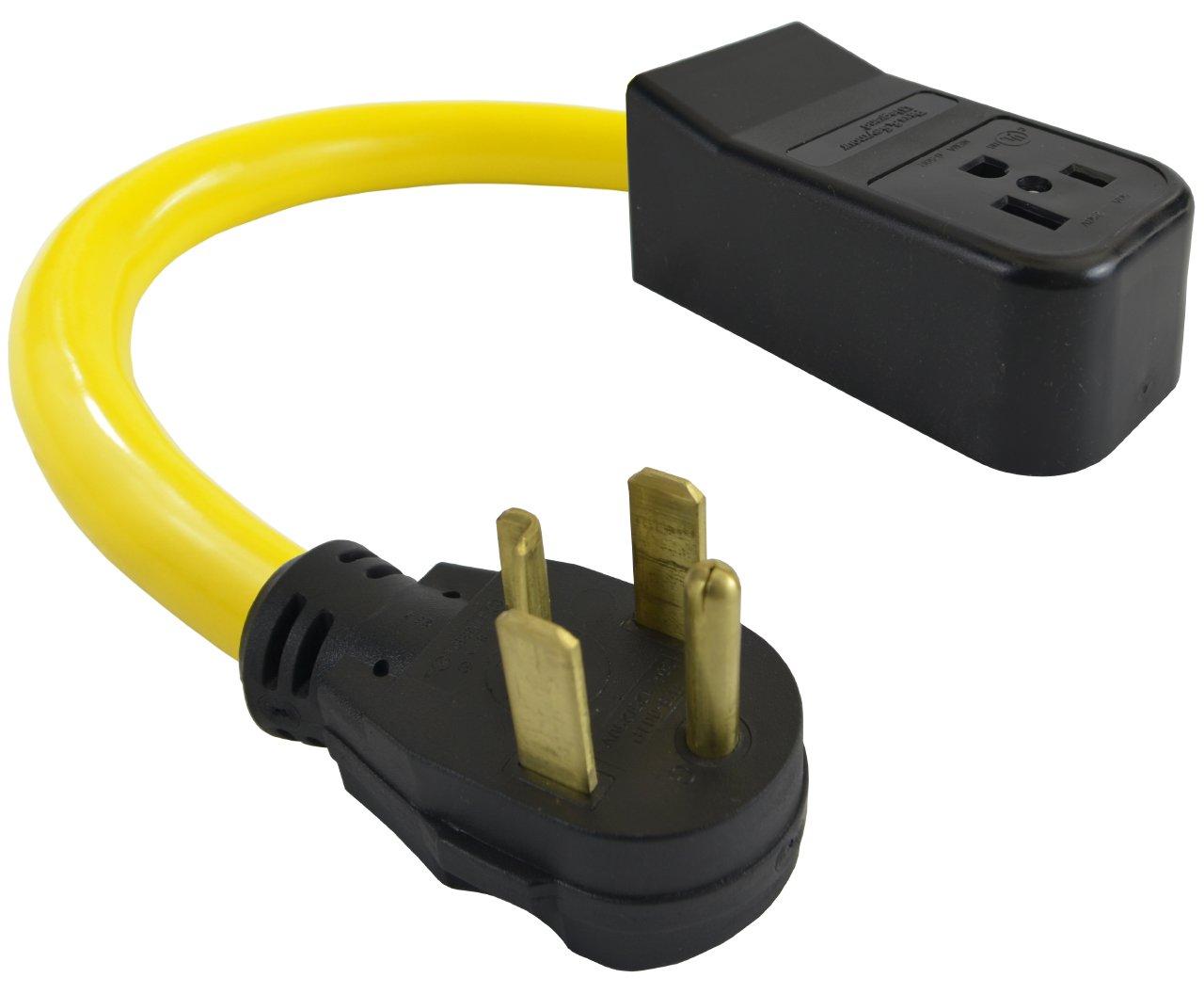 Conntek P1430650 Welder Adapter 4 Prong Dryer 14-30P Plug to NEMA 6-50R 50 Amp 250-volt Adapter Cord
