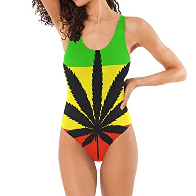 2c2a74cd5546d Image Unavailable. Image not available for. Color: DEYYA Women's Happy July  4Th Independence Day Rasta Flag One Piece Swimsuit ...