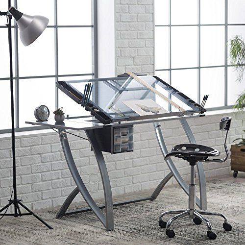 Studio Designs Futura Advanced Drafting Table with Side Shelf by Studio Designs