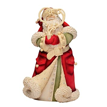 Amazon.com: Enesco Heart of Christmas Santa with Smoke Wreath ...