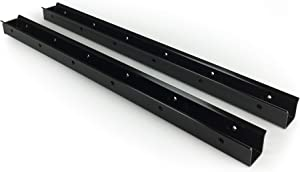 Quick Dam Flood Gate Side Rails attach to walls for smooth surface & seal, 2-Pack
