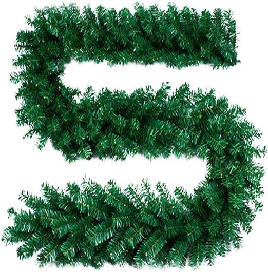 9FT 2.7M PRELIT GREEN SPRUCE GARLAND