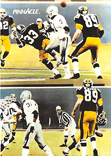 Franco Harris football card (Pittsburgh Steelers Hall of Famer) 1991 Pinnacle #387 Immaculate Reception