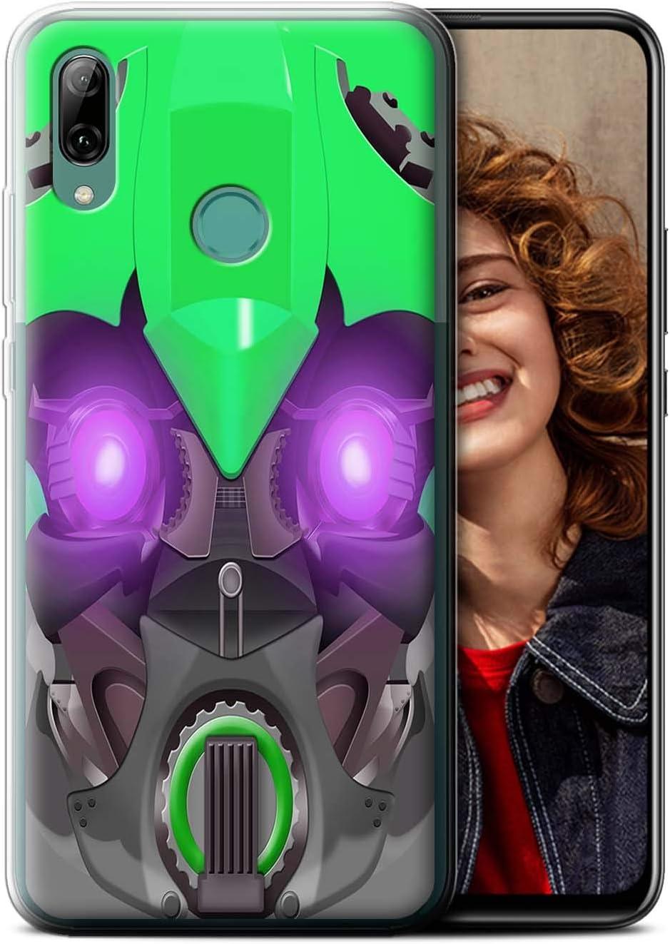 eSwish Carcasa/Funda TPU/Gel para el Huawei P Smart Z/Y9 Prime 2019 / Serie: Robots - Verde Bumble-BOT