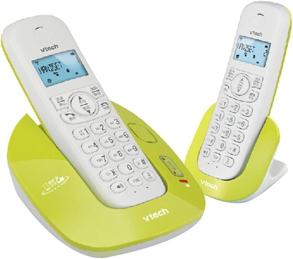 Phone Teléfono de casa inalámbrico con contestador automático, teléfono de conexión inalámbrica Bluetooth, Paquete de Auricular Simple o Doble, Llamada Avanzada de botón Grande: Amazon.es: Electrónica