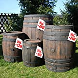 Rain Barrel Water Butt Garden Container Rainwater Collector Rainsaver Rain Water Tank Wine Barrel Look Wine Cask Style with child-proof lid and water tap
