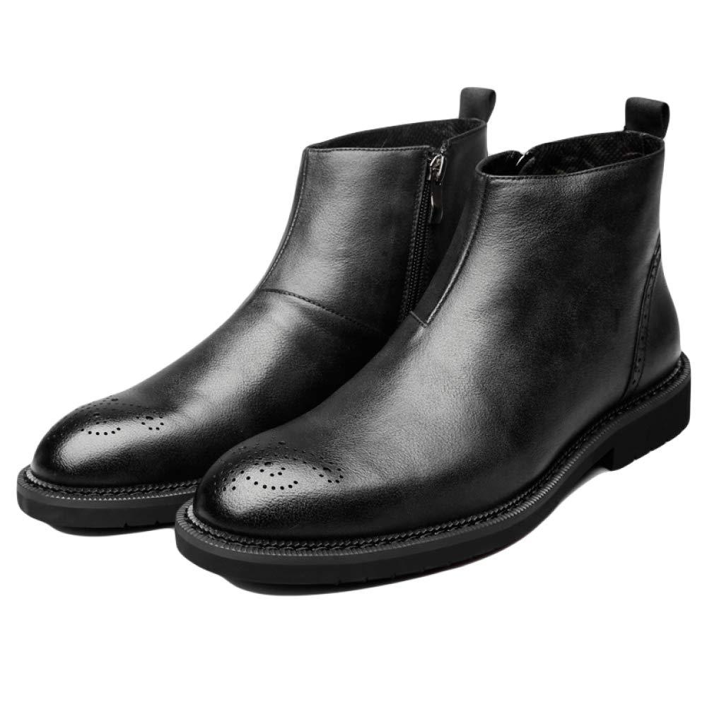 WDYY Leder Martin Stiefel Retro England schwarz Hohe Hilfe Werkzeuge Stiefel schwarz England 59907f