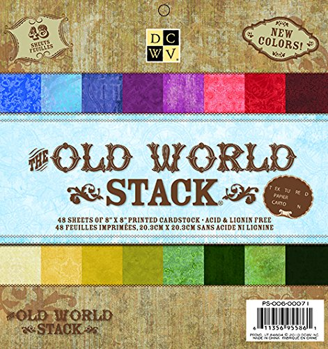American Crafts 8 x 8 inch Old World 48 Sheets Die Cuts with a View Stacks (Old World Stack)