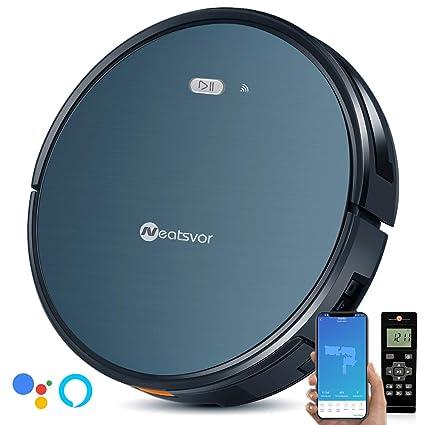 NEATSVOR X500 Robot Aspirador 4 en 1, Control por App y Alexa, WiFi, 4 Modos de Limpieza, Succión 1800PA, para Suelos Duros y alfombras