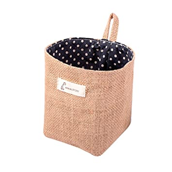 Charming Amazon.com: Rihe Jute Wall Door Hanging Storage Bag Case Basket Home  Organizer Bin Decor (Blue Dot): Home U0026 Kitchen