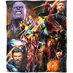 "Northwest The Avengers Infinity War Team Infinity Silk Touch Throw Blanket, 50"" x 60"""