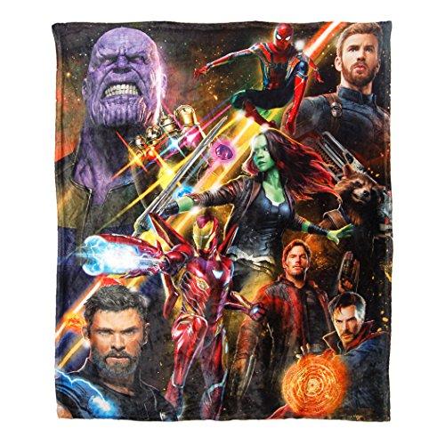 Marvel Avengers War, Team Infinity Silk Touch Throw Blanket, 50