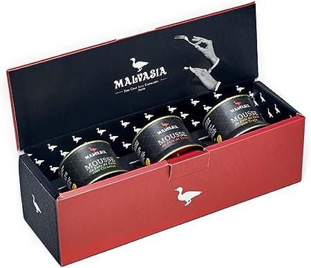 Lote de Tres Mousses de Foie 130g. Lotes Gourmet de Mousse de Foie Malvasia.
