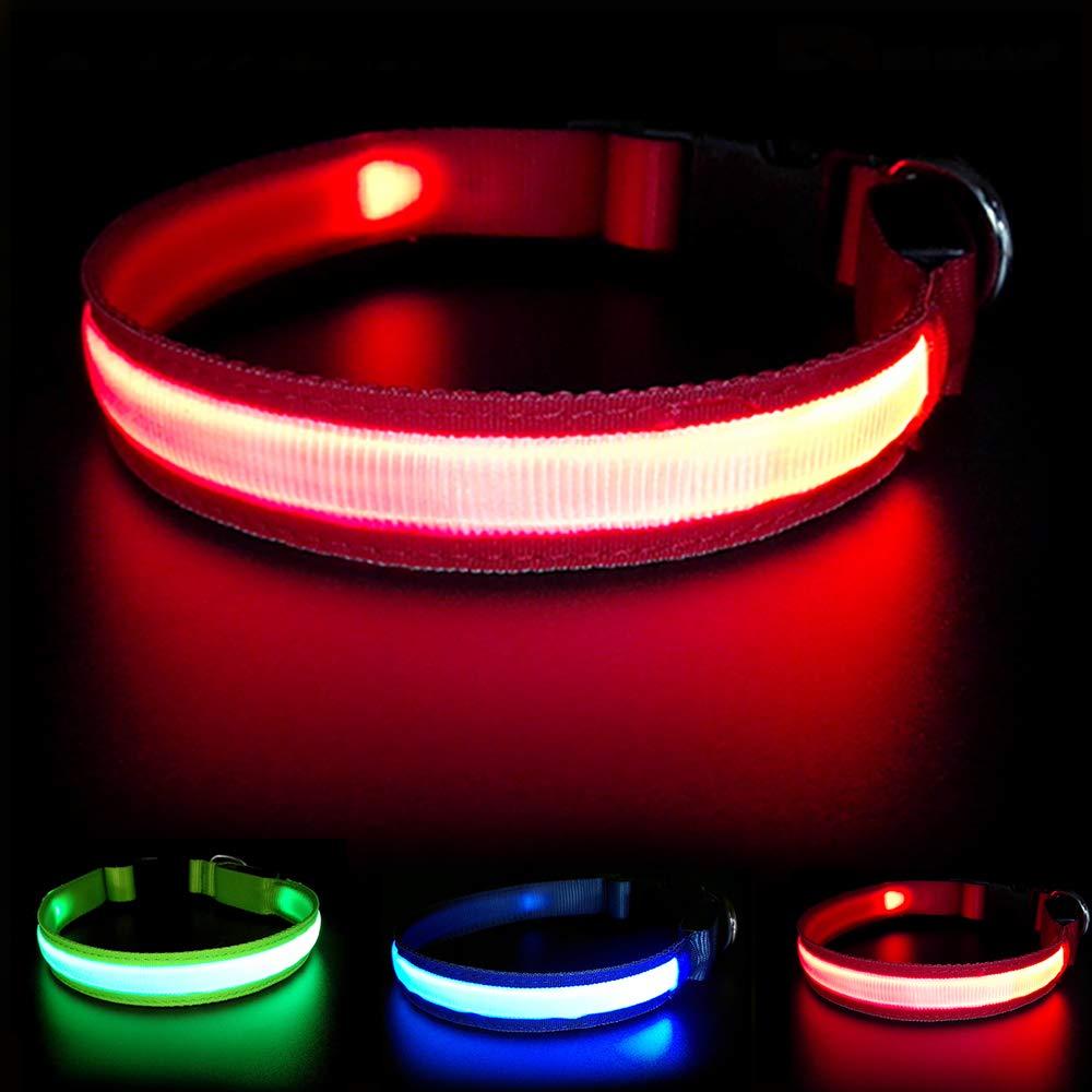 MASBRILL Collar de Perro Recargable de Seguridad LED - Collar ...