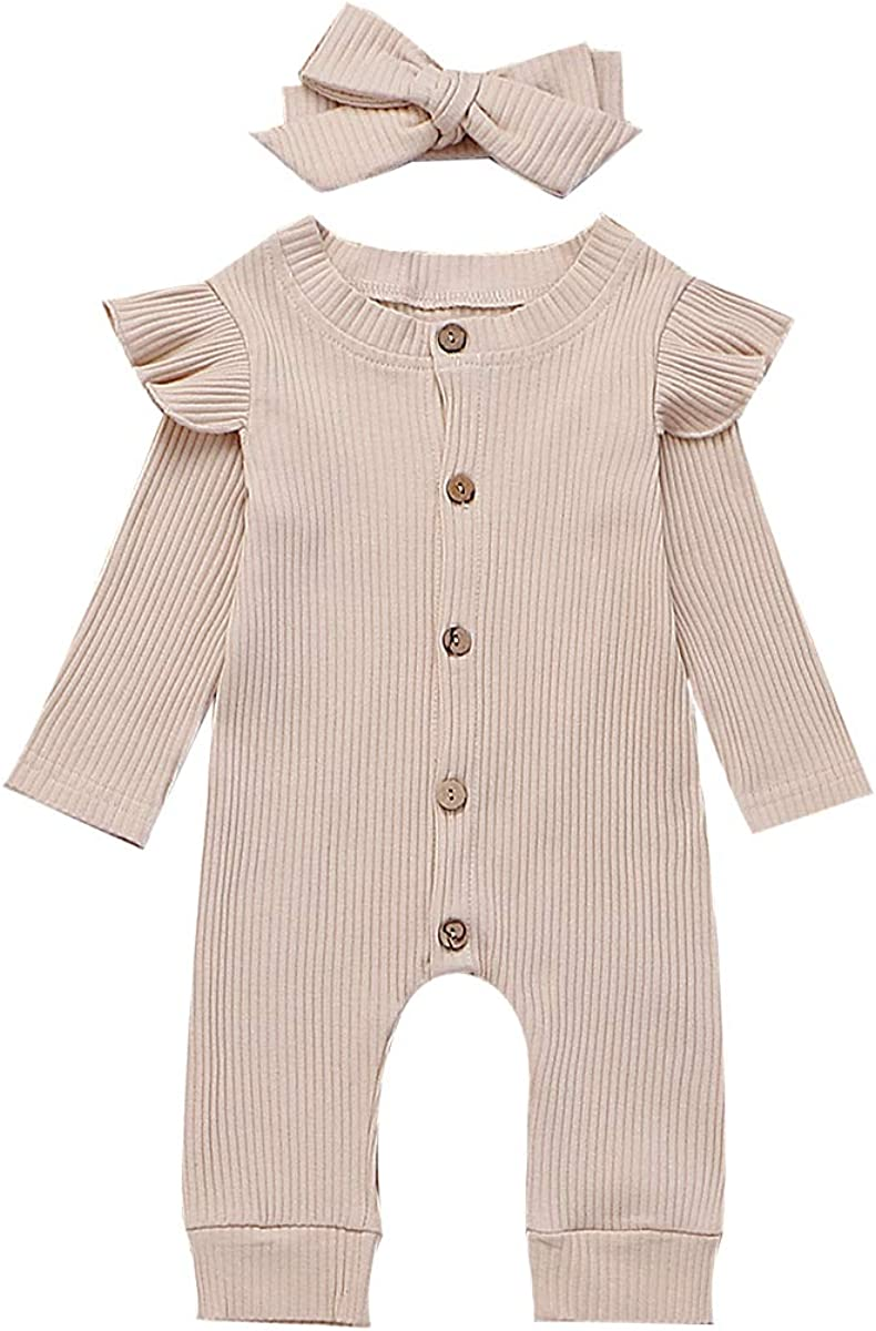 Smooffly Newborn Baby Girl Boy Tigger and Eyeore Long Sleeve Bodysuit One-Piece Playsuits