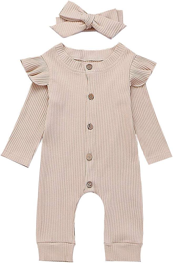 Amazon.com: Bebé Bebé Niñas Lindo Color Sólido Botones ...