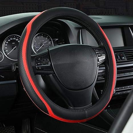 Cubierta para volante universal de cuero 15/pulg.//38/cm protecci/ón antideslizante buen agarre transpirable