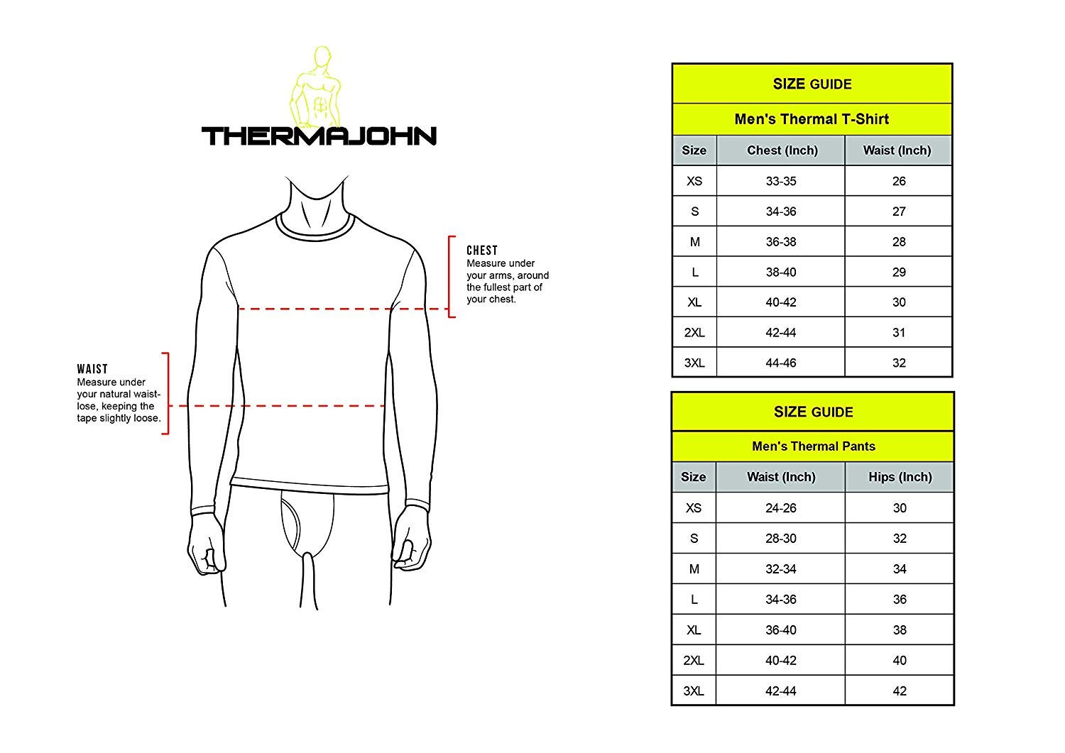 Thermajohn Men's Ultra Soft Thermal Underwear Long Johns Set with Fleece Lined (XX-Large, 3 Pack - Black) by Thermajohn (Image #2)