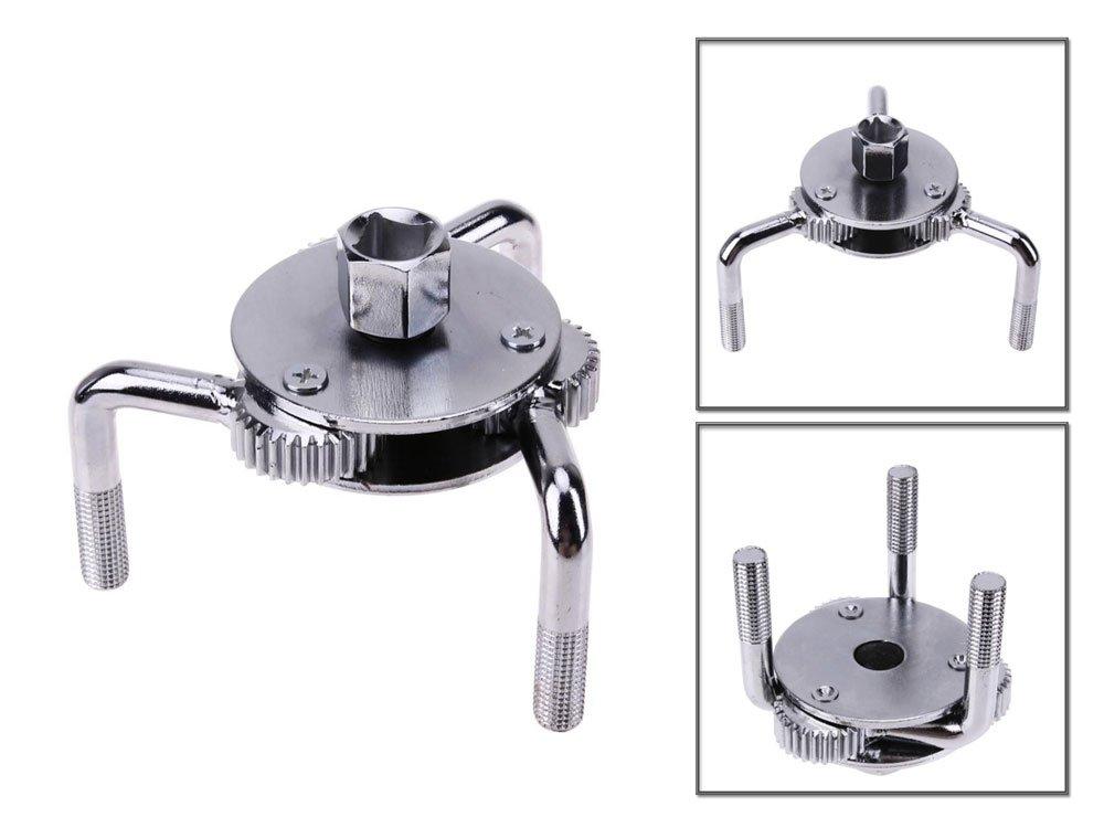 Vetrineinrete® Chiave a ragno per filtro olio da 65 a 110 mm 3 zampe per motore auto e moto attacco 3/8' e 1/2' A29