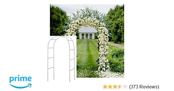 Amazon Adorox 75 Ft Lightweight White Metal Arch Wedding