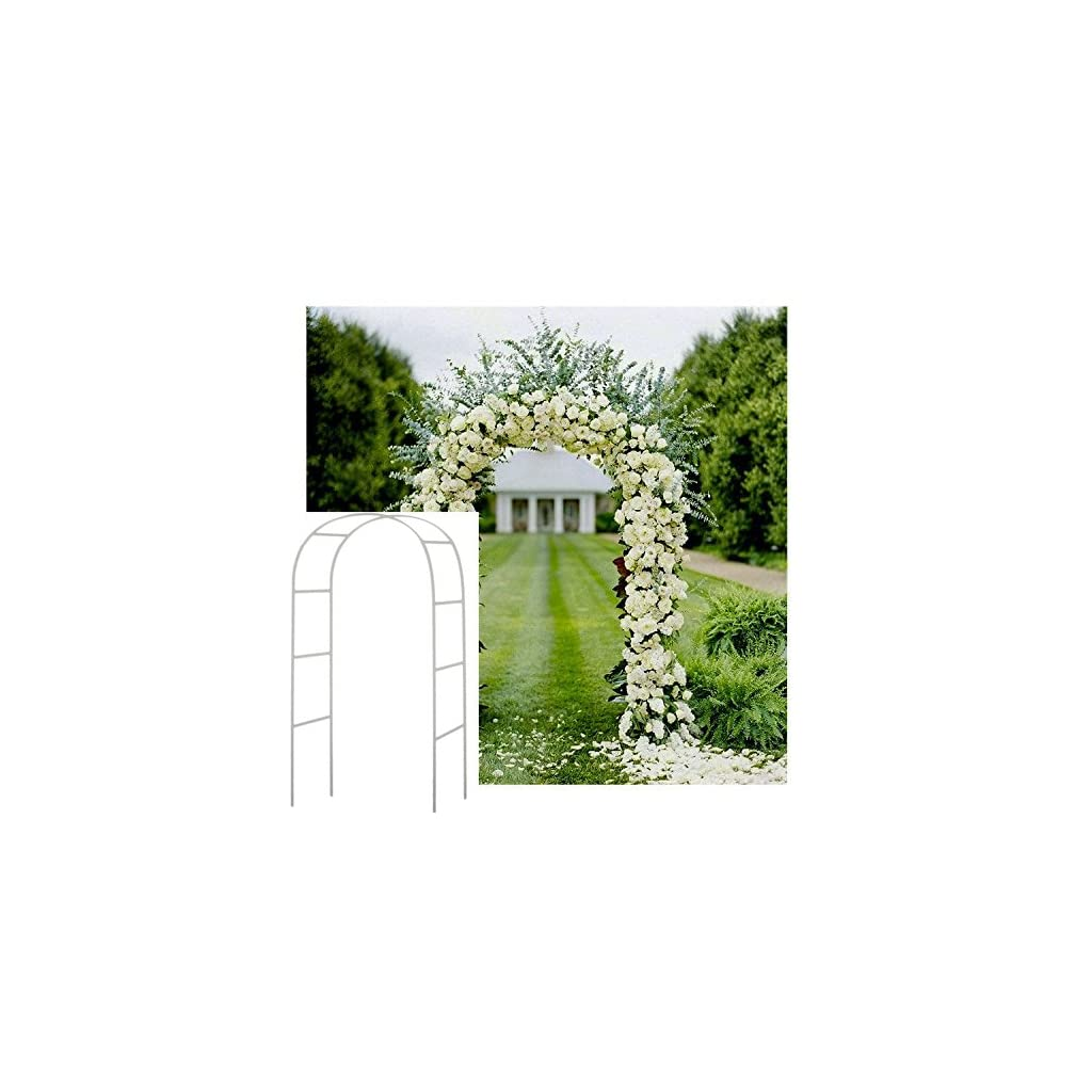 Adorox-75-Ft-White-Metal-Arch-Wedding-Garden-Bridal-Party-Decoration-Arbor