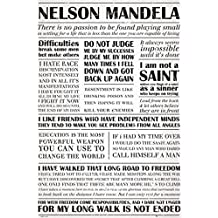 Posters: Nelson Mandela Poster - Quotes (36 x 24 inches)