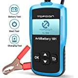 TT TOPDON AB101 Car Battery Tester 12v on Cranking Charging System and Battery Load 100-2000 CCA Alternator Analyzer for…