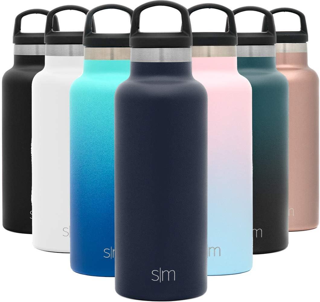 Simple Modern 500mL Ascent Termo Botella de Agua de Acero Inoxidable con Tapa de Asa, Botella termica con boca estrecha, aislada al vacío, doble pared, sin BPA para Deporte o Viaje, Prueba de Fugas