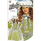 Children's Milady Green Costume Small 5-7 Yrs (128cm) For Medieval Princess