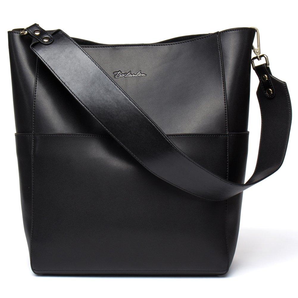 Big Sale,BOSTANTEN Women s Leather Designer Handbags Purses Ladies Tote  Shoulder Vintage Bags Black c30a92a8a