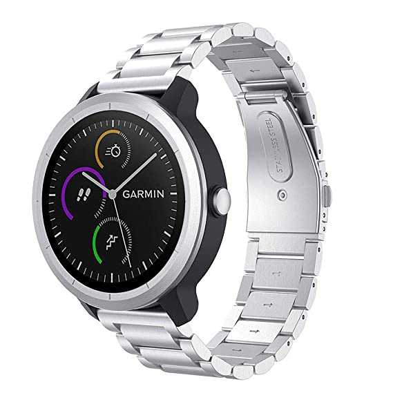 Amazon.com: METEQI Bands Compatible with Garmin Vivoactive 3 ...