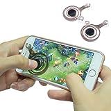 LEEHUR スマホゲームジョイスティック 携帯電話ゲームタッチスクリーンジョイパッド ゲームコントローラFor Phone Or Pad (黒)