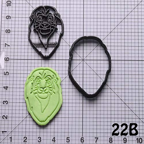 1 piece Popular Film The Lion King Simba Design Biscuit Cutter Set Custom Made 3D Printed Cookie Cutters Cookie Shape Fondant Cutter (Custom Cookies Printed)