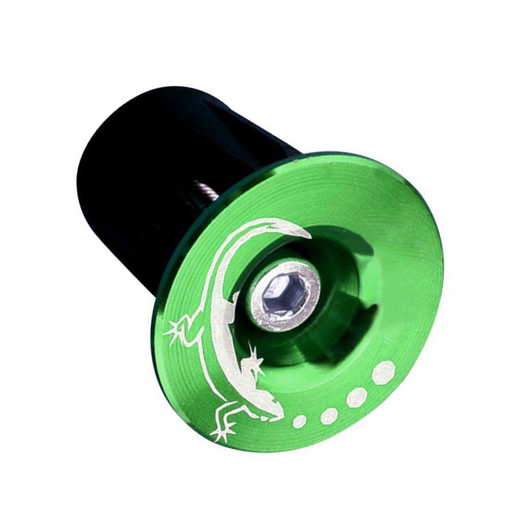 Lorsoul 1 par Manillar de la Bici Extremo se Conecta aleaci/ón de Aluminio MTB Bici del Camino de Ciclo de la Bicicleta Manillar Pu/ños Caps Verde y Gecko
