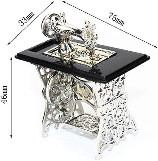Juguete para niños, Nueva Herramienta de Bricolaje Máquina de Coser en Miniatura 1:12 Mini casa de muñecas Mini máquina de Coser Juguetes Regalo Juguete Educativo para niños Niñas Niños pequeños Jugu: Amazon.es: