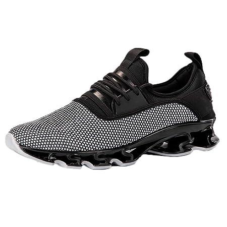 Zapatillas para Hombre ZARLLE Zapatillas de Running Deporte y Aire Libre Hombres Zapatos Entrenamiento de Correr montaña Calzado Gimnasio Atletismo Cómodo ...
