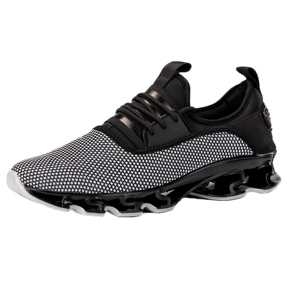 Corriee Men Sneaker Mesh Breathable Athletic Outdoor Lightweight Running Training Jogging Gym Shoes Gray
