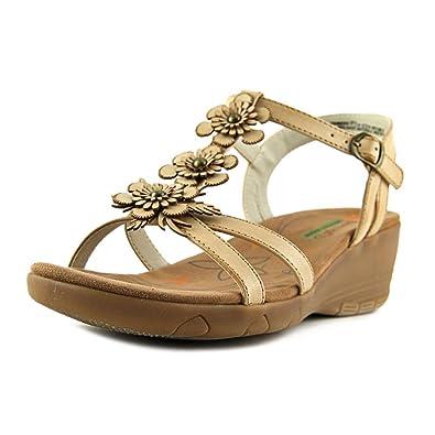 ec6ad9298bf384 BareTraps Women s Hammond Mid Heel Sandals TAN 8.5 M