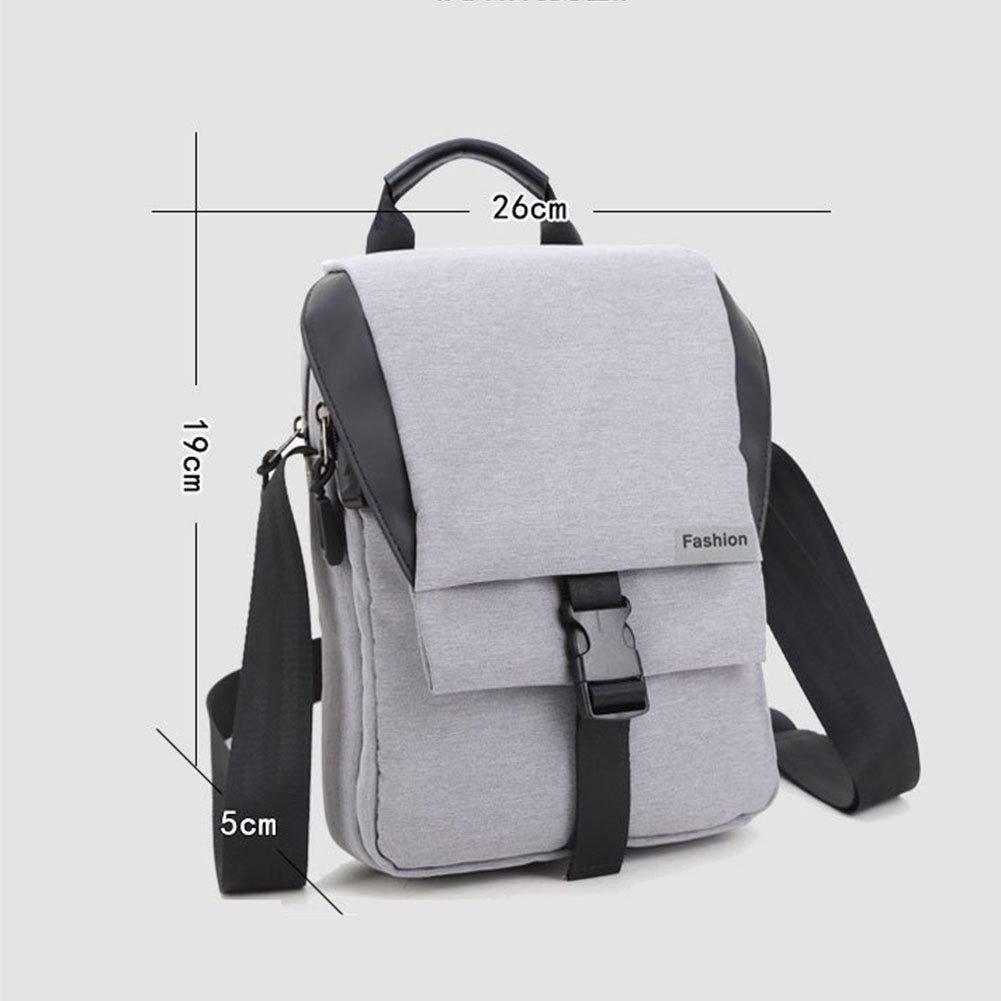 FHGJ Messenger Bags Mens Casual Multifunctional Chest Pocket Oxford Portable Tote