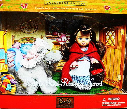 Barbie Kelly Little Red Riding Hood and Wolf Collector Storybook Series Doll Figurine Set-Nib-NRFB-Rare