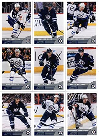 amazoncom 2013 14 score hockey cards team set winnipeg