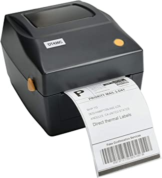 Amazon Com Funglam Shipping Label Printer Commercial Grade Roll Fanfold Direct Thermal Label Printer Support Amazon Ebay Etsy Shopify Ups Fedex On Windows 4x6 Printer Thermal Barcode Printer Electronics