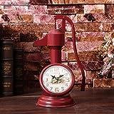 ZHAS Alarm Clock European Clock Room Clock Clock Clock Ornaments American Retro Country Pressure Wells