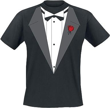 Vito´s Smoking Hombre Camiseta Negro, [Effekte/Besonderheiten] + Regular: Amazon.es: Ropa y accesorios