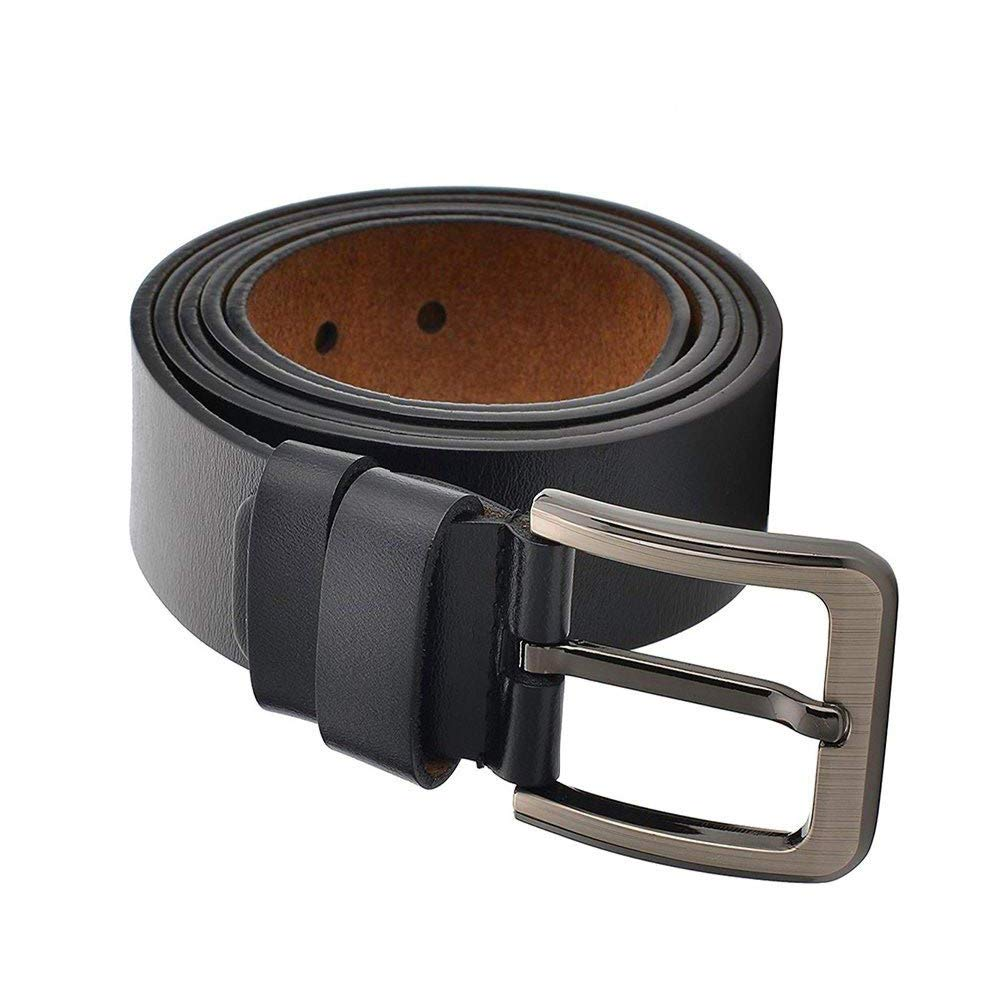 CAILIN Classic Designer Business Casual Formal Leather Belt,Genuine Leather Belt for Jeans Big and Tall Size