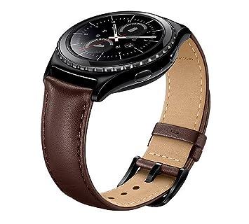 FOTOWELT Samsung Gear S2 Classic Watch Band, Bracelet en Cuir véritable Montre Bracelet de Remplacement