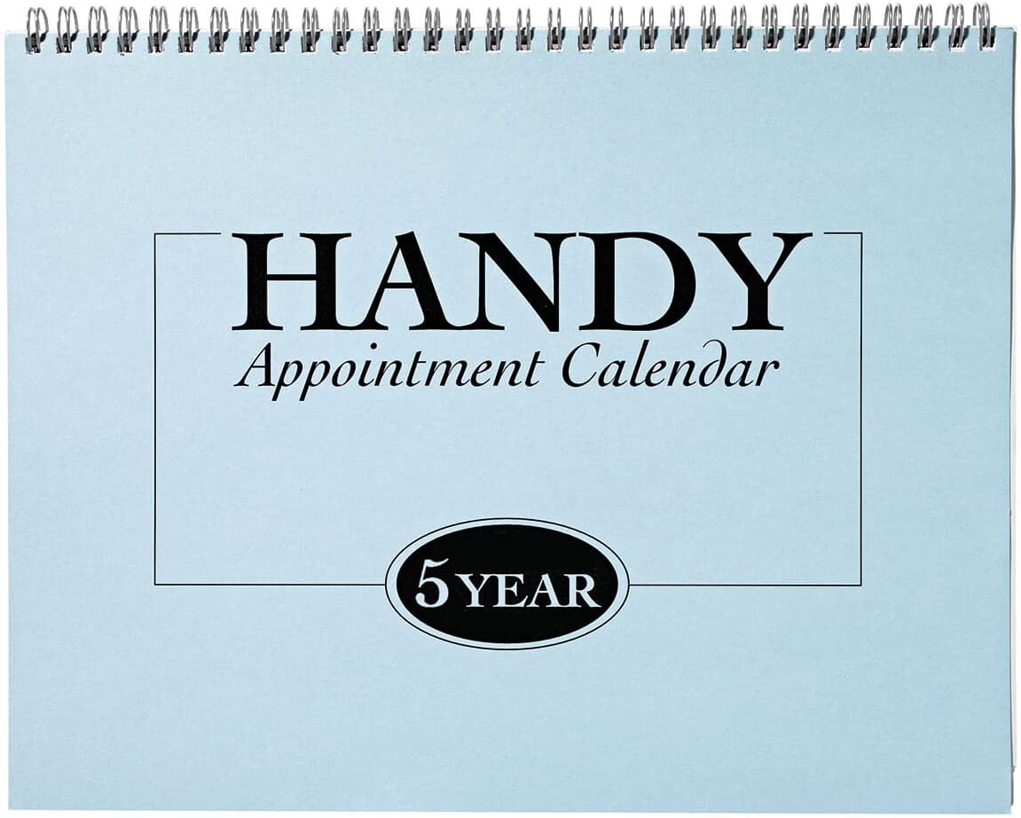 """5-Year Appointment Calendar Planner, 2020-2024 Monthly Schedule Organizer, Flip Calendar Diary with Tabs, Spiral Bound Top, 8 ½"""" Wide x 11"""" Long"""