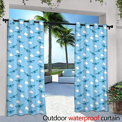 Lightly Patio Curtains,Seamless Pattern with Funny Cartoon Long Dachshund Dogs Dressed in Colorful Clothes,W72 x L96 Outdoor Patio Curtains Waterproof with Grommets