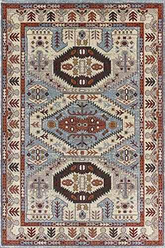 Golden Rugs Gabbeh Collection Area Rug Tribal Marisela Hand Touch Vintage South West Carpet Traditional Texture for Bedroom Living Dining Room ()