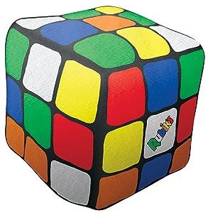"iscream Old School! Bubble Gum Scent Rubik's Cube Shaped 6"" x 6"" x 6"" Microbead Mini Pillow"